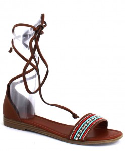Brown Lace-up Sandal