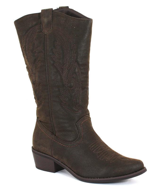 Pierre Dumas Women's Cowgirl 5 Western Boot Brown - 6 M W...