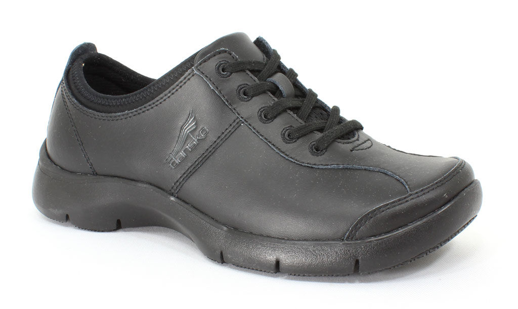 Dansko Women's Elise Black Leather 39 EU (8.5 - 9 M US Women)
