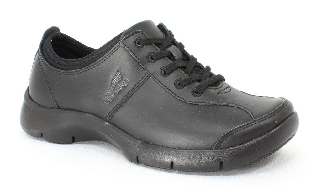 Dansko Women's Elise Black Leather 38 EU (7.5 - 8 M US Women)