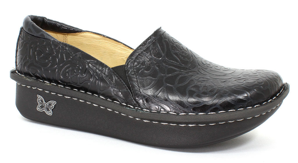 Alegria Women's Debra Black Embossed Rose - 36 Eu (6 - 6....