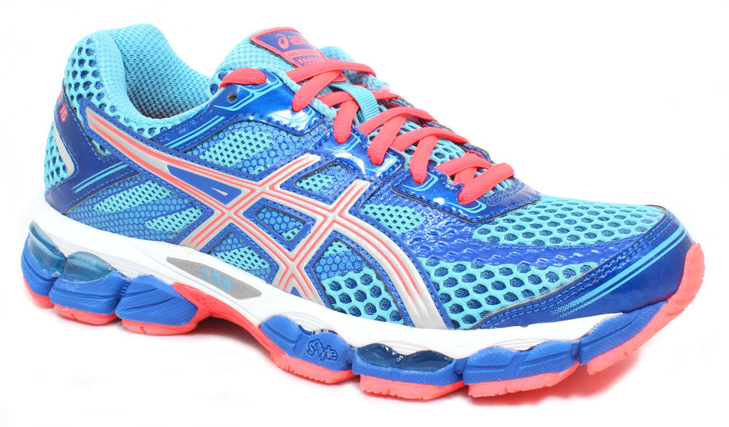 Asics Women's Cumulus 15 Turquoise Lightning Electric Melon