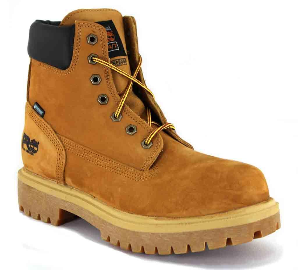 "Timberland Men's 6"" Soft Toe Waterproof Insulated Wheat -..."