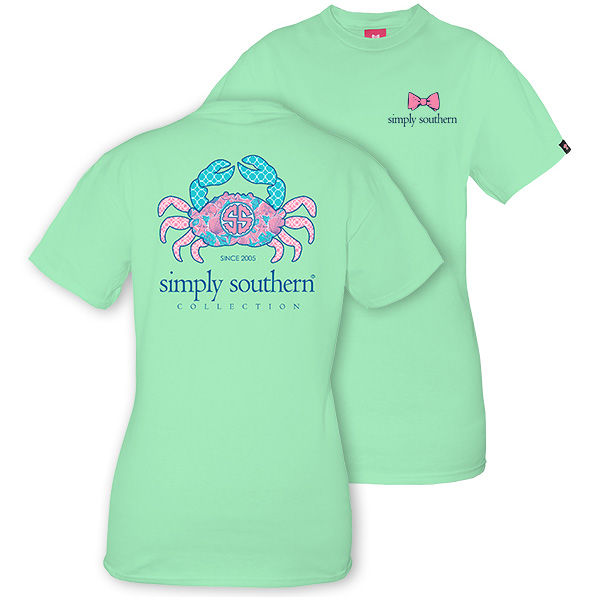 Simply Southern Women's Crab T-shirt Julep - M By Houser ...
