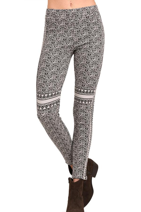 Umgee Women's Printed Leggings Grey - S By Houser Shoes