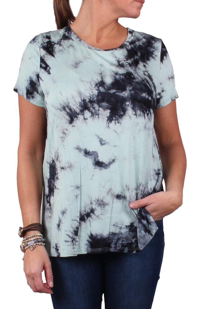 Blvd Women's Tye Dye T-shirt Mint - M By Houser Shoes