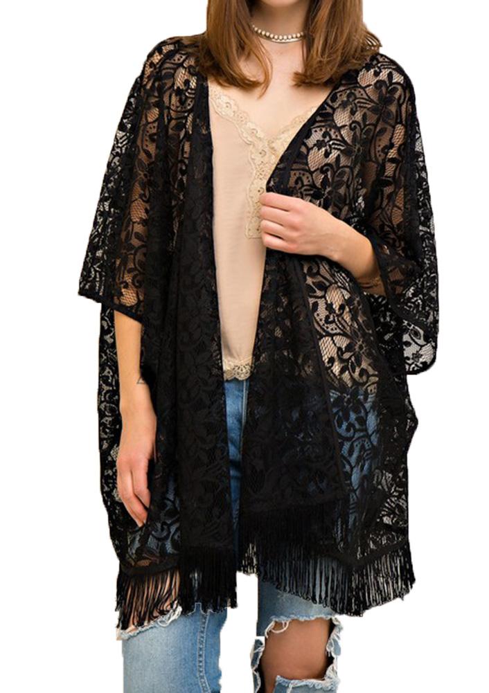 Entro Women's Lace Vest Black - S By Houser Shoes
