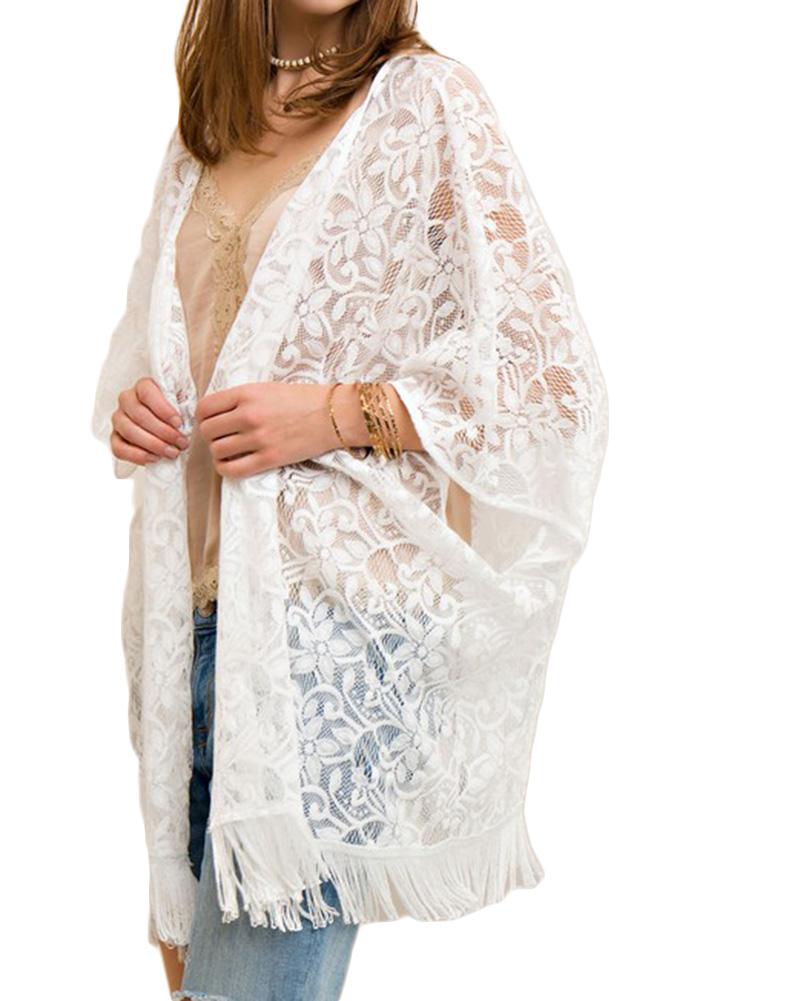 Entro Women's Lace Vest Off-white - L By Houser Shoes