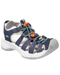 KEEN Women's Astoria West Sandal Navy Beveled Glass