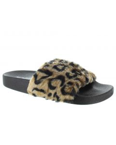 Soda Women's Yoga Slide Leopard