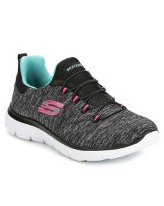 Skechers Women's Summits Quick Getaway Black Light Blue