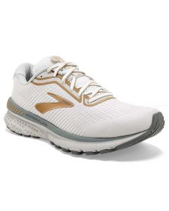 Brooks Women's Adrenaline GTS 20 White-Grey-Gold