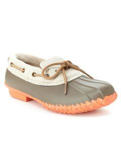 JBU Women's Gwen Duck Shoe Taupe Coral