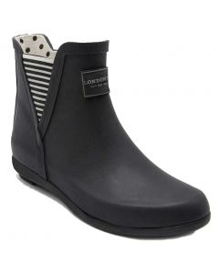 London Fog Women's Piccadilly Rainboot Black