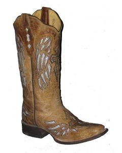 Cowtown Boots Women's Cross Boot Tan