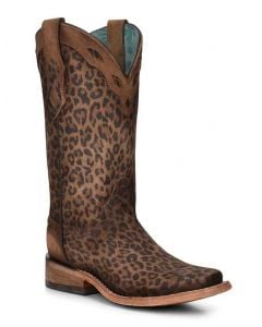 Corral Women's Leopard Boot Cognac