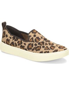 Sofft Women's Somers Slip On Knit Tan Leopard