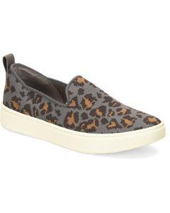 Sofft Women's Somers Slip On Knit Grey Leopard