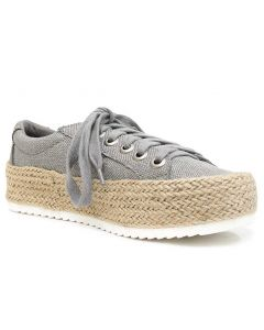 Soda Women's Keana Grey Linen