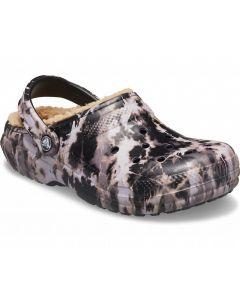 Crocs Women's Classic Lined Black Tye Dye