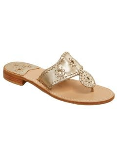 Jack Rogers Women's Jacks Flat Sandal Platinum