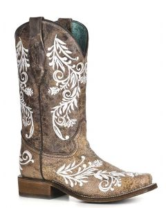 Corral Women's Embroidery Boot Brown White