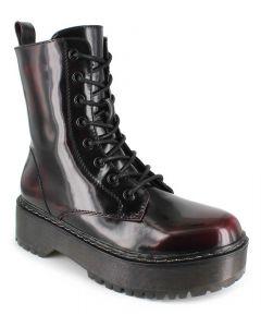 Union Bay Women's Kiwi Combat Boot Oxblood