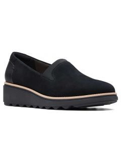 Clarks Women's Sharon Dolly Black Suede