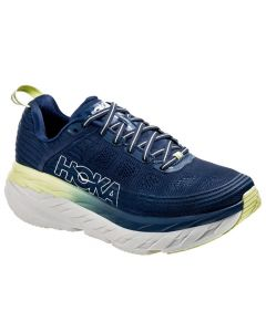 Hoka One One Women's Bondi 6 Ensign Blue Lime Sherbet