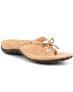 Vionic Women's Bella Thong Sandal Gold Cork