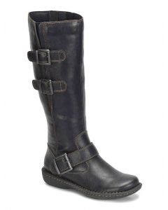 b.o.c Women's Virginia Wide Shaft Black