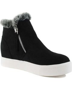 Soda Women's Outing Black Suede
