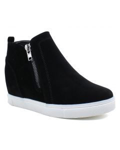 Outwoods Women's Hide-1 Black Suede