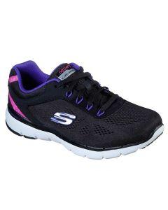Skechers Women's Flex Appeal 3.0 Steady Black Purple