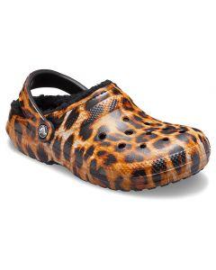 Crocs Women's Classic Lined Leopard Black