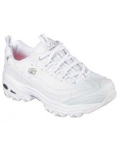 Skechers Women's D'lites Fresh Start White Silver