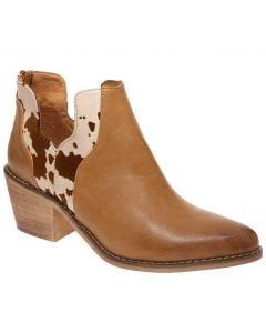 Pierre Dumas Women's West 4 Bootie Beige Cow