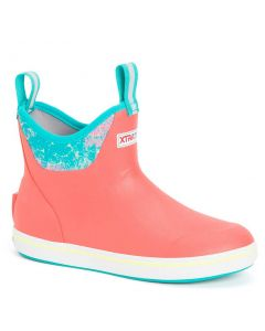 XTRATUF Women's 6 Inch Ankle Deck Boot Coral Coho
