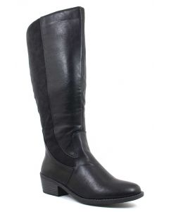 Easy Street Women's Cortland Plus Wide Calf Black Combo