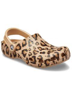 Crocs Women's Classic Leopard Gold
