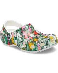 Crocs Women's Classic Floral White Multi