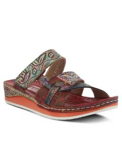 L'Artiste by Spring Step Women's Caiman Red Multi