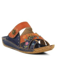 L'Artiste by Spring Step Women's Leigh Navy Multi