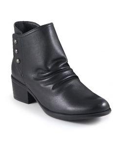 Bussola Women's Antwerpen Snap Button Boot Vintage Calf Black