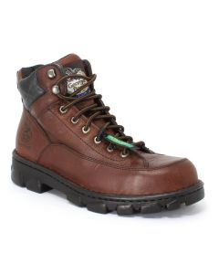 Georgia Eagle Light Wide Load Dark Brown Soggy Steel Toed Work Boots