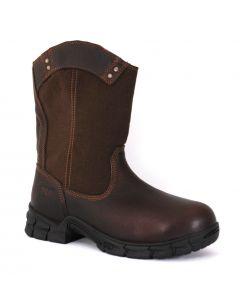 Timberland Men's Pro Excave Wellington Steel Toe Brown