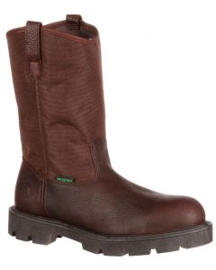 Georgia Boot Men's Homeland Steel Toe WP Wellington Brown