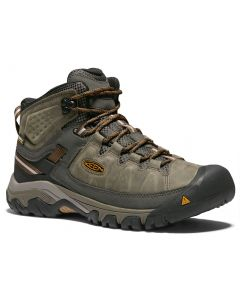 KEEN Men's Targhee Mid III Waterproof Black Olive Golden Brown