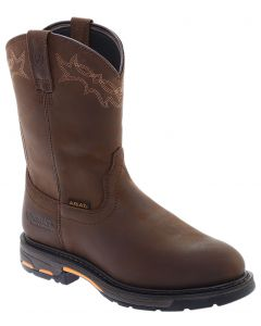 Ariat Men's WorkHog WP Oily Distressed Brown