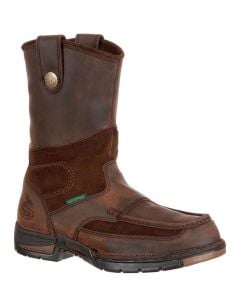 Georgia Boot Men's Athens Steel Toe WP Wellington Brown